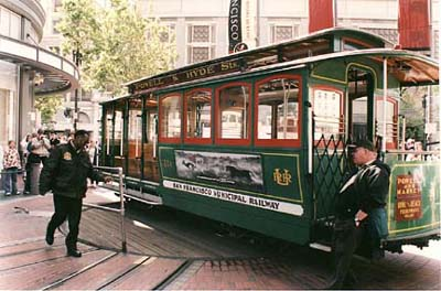 The Powell-Mason Cable Car Turnaround